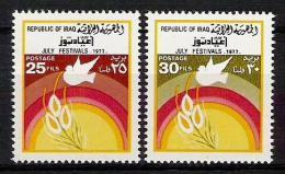 IRAQ 1977 Iraqi Stamps 14 Of July Festivals SET SC#  824 - 825 MNH - Iraq