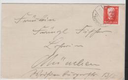 W238/ Hindenburg, 81. Geburtstag, 15 Pfg. Von Eichsstätt Nach München - Briefe U. Dokumente