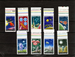 Roumanie: 1973 Série MNH Programme Apollo 1 à 17 - Space