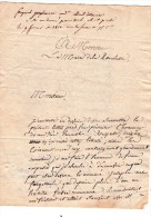 Lettre De Vannes Vers La Rochelle - 1822 - Griffe - 54 Vannes - Non Classés