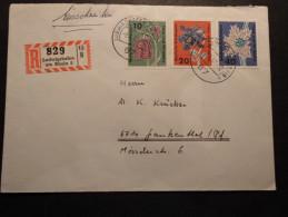 BRD Mi. 393/95 A. R-Brief V. Ludwigshafen - Cartas