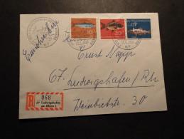 BRD Mi. 413/15 A. R-Brief V. Ludwigshafen SST Tag Der Eisenbahn - Cartas