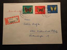 BRD Mi. 377/79 A. R-Brief V. Ludwigshafen - Cartas