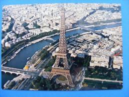 1974 - PARIS ......Vue Aérienne De La Tour Eiffel . ..   Recto-verso - Francia