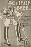 Illustration Satirique - Anti-Guillaume- Publicité ** Cirage Babel ** - CPA De Collectioneur - 2 Scans - War 1914-18