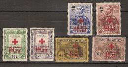 Portugal * &  Selos Do 4º Cent. Do Nasc. De Luís De Camões Sobrecarregados Cruz Vermelha 1935 (53) - 1910-... Republic