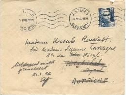 LETTRE AVEC 10F GANDON POUR AUTRICHE - Marcophilie (Lettres)