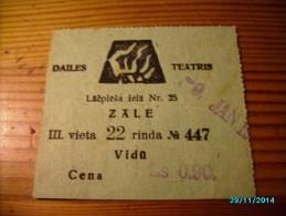 LATVIA 1 DAILE THEATRE     TICKET ,   0 - Tickets D'entrée