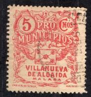 Villanueva Algaidas ( Malaga) - Caridad - 5  Cts. - Sofima 2 Spain Civil War Espagne Guerre Civile & 78 - Emisiones Nacionalistas