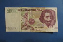 BANCONOTA DA 50.000 LIRE _ CINQUANTAMILA LIRE ITALIA BERNINI SERIE A 2°TIPO ITALY_27/05/1992 - [ 2] 1946-… : República