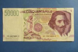 BANCONOTA DA 50.000 LIRE _ CINQUANTAMILA LIRE ITALIA BERNINI SERIE C 2°TIPO ITALY_16/10/1995 - [ 2] 1946-… : República