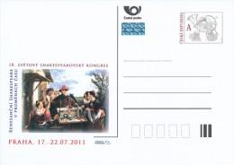"""Czech Rep. / Postal Stat. (Pre2011/33) IX. World Shakespeare Congress """"Renaissance Shakespeare In Changing Times"""" - Postwaardestukken"""