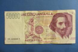 BANCONOTA DA 50.000 LIRE _ CINQUANTAMILA LIRE ITALIA BERNINI SERIE D 2°TIPO ITALY_20/02/1997 - [ 2] 1946-… : Républic