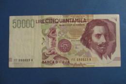 BANCONOTA DA 50.000 LIRE _ CINQUANTAMILA LIRE ITALIA BERNINI SERIE E 2°TIPO ITALY_29/06/1999 - [ 2] 1946-… : Repubblica