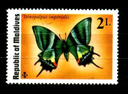 MALDIVE - MALDIVES - Farfalle - Butterfly - Nuovo - News -MNH * * - Farfalle