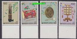 Korea 1991 Music Instruments 4v ** Mnh (12686) - Korea (...-1945)