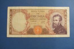 BANCONOTA DA 10.000 LIRE _ DIECIMILA LIRE ITALIA MICHELANGELO ITALY_20/05/1966 - [ 2] 1946-… : Républic