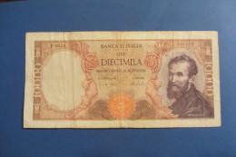 BANCONOTA DA 10.000 LIRE _ DIECIMILA LIRE ITALIA MICHELANGELO ITALY_27/11/1973 - [ 2] 1946-… : República