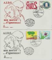 =SAN MARINO FDC *2 1988 ADIS - FDC