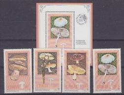 Ciskei 1987 Mushrooms / Fungi 4v + M/s ** Mnh (18512) - Ciskei