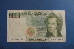 BANCONOTA DA 5.000 LIRE _ CINQUEMILA LIRE ITALIA BELLINI ITALY_SERIE D - [ 2] 1946-… : Repubblica