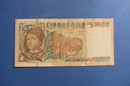 BANCONOTA DA 5.000 LIRE _ CINQUEMILA LIRE ITALIA MESSINA ITALY_09/03/1979 - [ 2] 1946-… : Repubblica