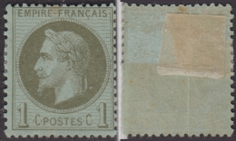 *PROMO* 1c Lauré De 1870 Neuf * Aspect TB (Y&T N° 25, Cote 80€) - 1863-1870 Napoleon III Gelauwerd