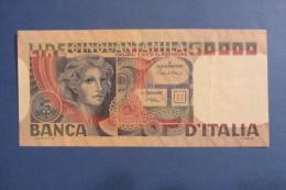 BANCONOTA DA 50.000 LIRE _ CINQUANTAMILA LIRE ITALIA VOLTO DONNA ITALY_11/04/1980 - [ 2] 1946-… : República