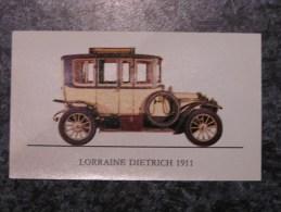 Chromo Jubilé Lorraine Dietrich 1911 Vieux Tacots Chromos Automobile Trading Card Chromos Vignette - Oude Documenten