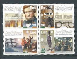 Irlande 2001 N°1340/1343 Neufs ** Patrimoine Irlandais En Australie - 1949-... République D'Irlande