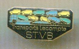 Pin´s - STVB Transports Lecompte CAMION Voiture - Transportation