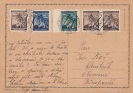 Böhmen & Mähren Karte Mif Minr.20,3x 21,23 Ansehen !!!!!!!!!! - Böhmen Und Mähren