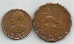 Ethiopia 1930  (?) 2 Coins - Ethiopia