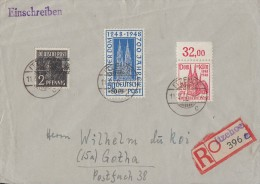 Bizone R-Brief Mif Minr.36I,71 OR, 72 Itzehoe 11.9.49 - Bizone