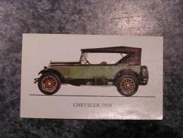 Chromo Jubilé Chrysler 70  1924 Vieux Tacots Chromos Automobile Auto Cars Trading Card Chromos Vignette - Old Paper