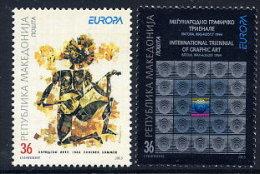 MACEDONIA 2003 Europa: Poster Art  MNH / **.  Michel 279-80 - Macedonia