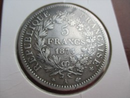 France 5 Francs, 1875 A - Frankrijk