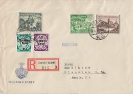 DR R-Brief Mif Minr.730,732,733,720,725 Lorch 19.4.40 - Deutschland