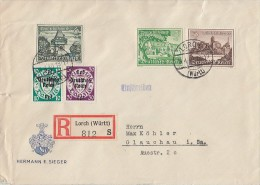 DR R-Brief Mif Minr.730,732,733,720,725 Lorch 19.4.40 - Briefe U. Dokumente