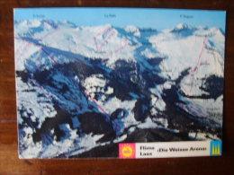 Cartolina Postcard Ski Area Trail Map Flims Laax Die Weisse Arena - Wintersport
