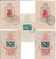 1940 Hungary Magyar Posta - FDC Flooding, Mathias King (2 Photos) 5 Souvenir Cards , As Scan - FDC