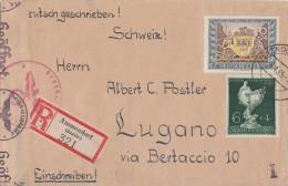 DR R-Brief Mif Minr.782,787,794,828,902 Ammendorf 8.1.45 Gel. Nach Italien Zensur - Briefe U. Dokumente