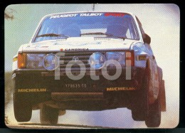 1985 POCKET CALENDAR CALENDRIER VOITURE RALLYE CAR RALLY TALBOT PEUGEOT PORTUGAL - Tamaño Pequeño : 1981-90