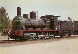 Nº296 POSTAL DE ESPAÑA DE UNA LOCOMOTORA VAPOR EN ALCAZAR DE SAN JUAN (TREN-TRAIN-ZUG) AMICS DEL FERROCARRIL - Trenes