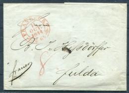 1844 Altdeutschland  Vorphila Frankfurt - Fulda - Germany