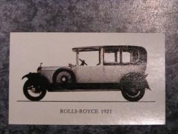 Chromo Jubilé Rolls Royce Type Silver Ghost 1921 Vieux Tacots Chromos Automobile Auto Cars Trading Card Chromos Vignette - Vieux Papiers