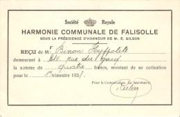 Harmonie Communale De Falisolle Carte De Soutien - Sambreville