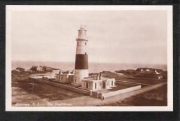 RP Alderney The Lighthouse Vintage RP Postcard CI CHANNEL ISLANDS Phare Leuchtturm - Alderney