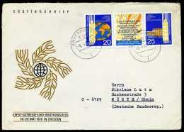 31929) DDR - Michel 1575 / 1576 = WZd 224 - Brief - Welt-Getreide Und Brotkongreß - Briefe U. Dokumente