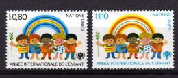 UNO GENF 1979 ** Internationales Jahr Des Kindes - MiNr.83-84 Kompl. Satz MNH - Kind & Jugend